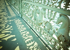 patterned bridge (Evgenia Makarova) Tags: bridge summer horses sun reflection green monument beautiful river walking pattern sunny shaddow saintpetersburg elegant neva