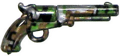 Rare Camo BrickArms - Silver Revolver with Digital Jungle Camo