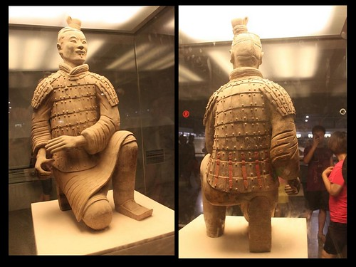 Kneeling Archer  at Pit No. 2 at Museum of Qin Terra-cotta Warriors and Horses, Xi'an China
