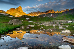 Ice Lake Basin Sunrise! (Steve Flowers) Tags: reflection sunrise colorado silverton backpacking icelakebasin nikond7000 nikon1024mmlens