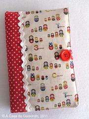 Capa para Moleskine (A.casa.do.Guaxinim) Tags: moleskine notebook agenda notepad fabriccover capaemtecido
