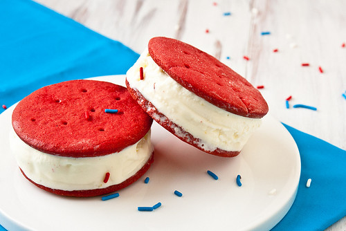 red velvet ice cream sandwich
