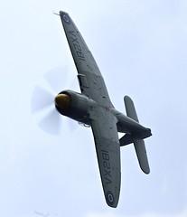Sea Fury Bottom 2 (Smirfman) Tags: show uk lens zoom sony sigma telephoto alpha airforce propeller kemble airdisplay sunday19thjune a550 rnasyeovilton thecotswoldairshow theseafury adrianorchardobe