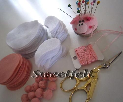 Produção domingueira... Uma belo domingo a todos!!! by sweetfelt \ ideias em feltro