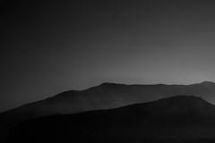 Dark Slopes (Frederick Leow) Tags: blackandwhite bw italy mountain silhouette capri nikon d90 silverefexpro
