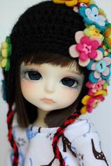 Hikaru (Aya_27) Tags: flower cute halloween floral yellow doll sweet dot special kawaii bjd lovely dots dollfie limited hikaru dollie latidoll lati kuroo kirikahat aireesweater