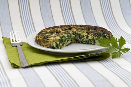 Truita d'espinacs i julivert 2
