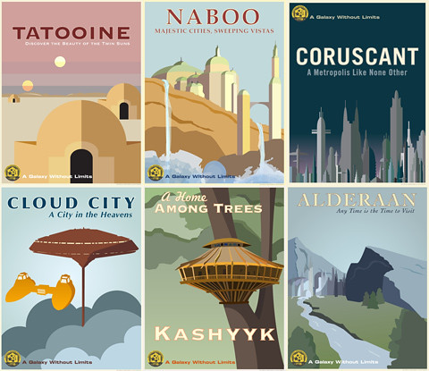 Star Wars Travel Poster Cloud City