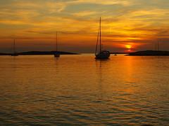 Sunset in Premuda (Duan Dobe) Tags: sunset sea reflection water island boat yacht croatia sail adriatic zd premuda