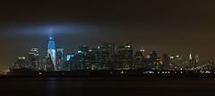 9/11 10th Anniversary Tribute in Light (Shane Woodall) Tags: longexposure newyork brooklyn lights worldtradecenter 911 september wtc tributeinlight 2011 freedomtower canon5dmarkii septenber11th shanewoodallphotography