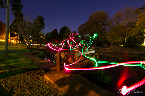 Light Trails Lake Annand
