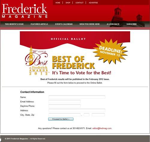 Frederick Basket wins Best of Frederick or so we hope