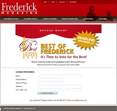 Frederick Basket wins Best of Frederick or so we hope
