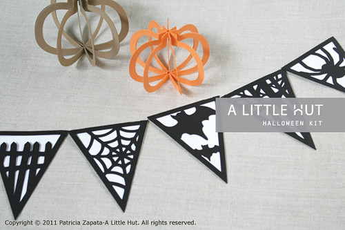halloween - bunting and pumpkins