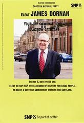 SNP Scottish Election Leaflet, 2011 (Scottish Political Archive) Tags: party scotland election glasgow scottish msp national publicity campaign cathcart snp 2011 dornan