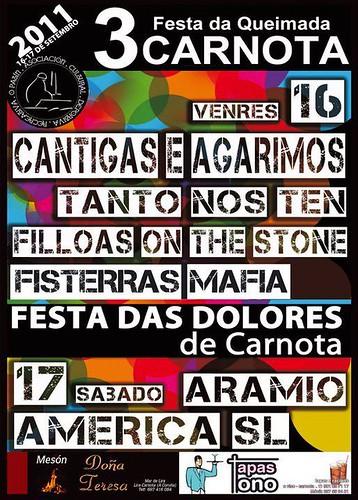 Carnota 2011 - Festa das Dores - cartel