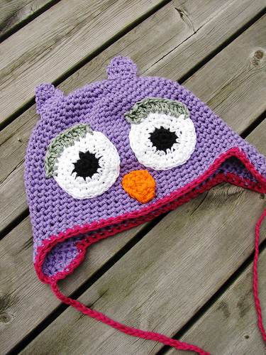 Owl hat - adult version
