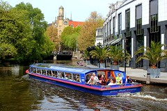 Blue Boat in Amsterdam, Netherlands (Hopeisland) Tags: