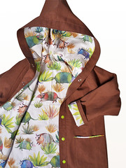 vesteArmadillos CU (theLazyGiraffe) Tags: hoodie handmade canvas jacket armadillo organiccotton childrenclothing