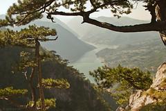 View from Banjska stena: Perućac Lake and Drina River Canyon (Irene Becker) Tags: landscape serbia rs 2010 balkan srbija zlatibor taramountain canon7d banjskastena westernserbia zapadnasrbija westserbia irenebecker nacionalniparktara jezeroperućac irenebeckerorg taranationalpark taraplanina nationalparktara drinariverkanyon imagesofserbia vidikovacbanjskastena vidikovacnatari jezeroperuæac kanjonrekedrine landscapesofserbia serbianlandscapes