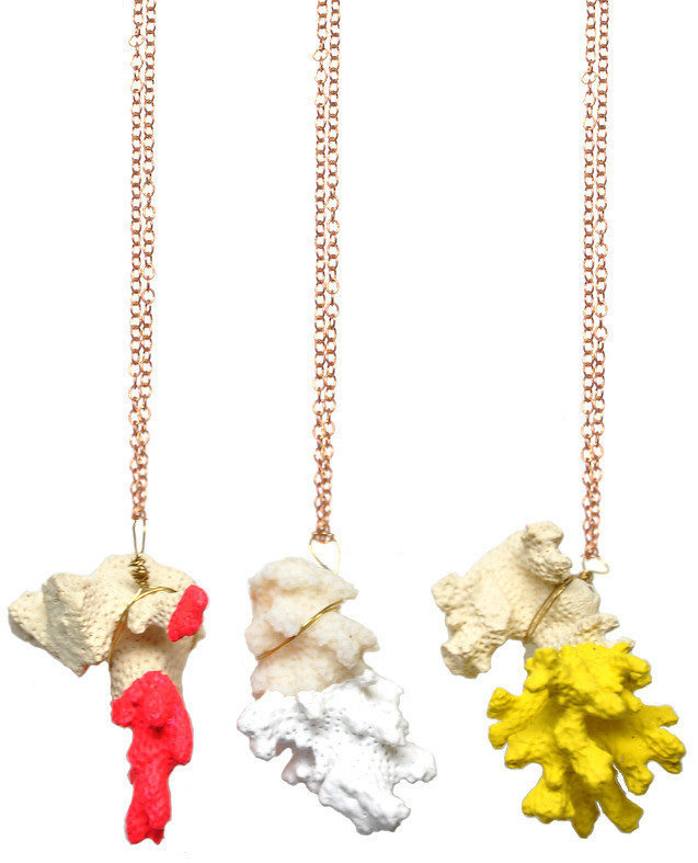 Two-Tone Coral Necklace | LEIF2