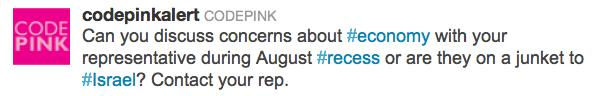 CodePink Demonizes Jews5
