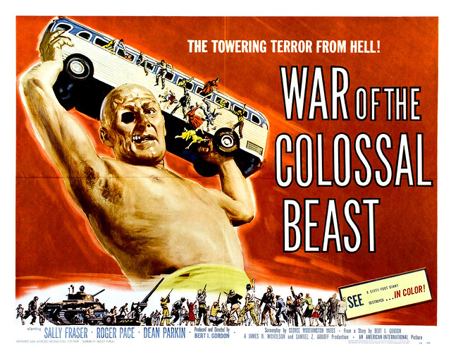 Albert Kallis - War of the Colossal Beast (American International, 1958) Half Sheet