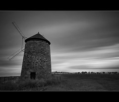 St Monans Windmill (Kit Downey) Tags: uk bw cloud seascape windmill st stone canon lens landscape eos rebel scotland movement long angle fife 10 wide east tokina stop filter kit f28 downey t21 monans neuk 550d ndf expousre 1116mm