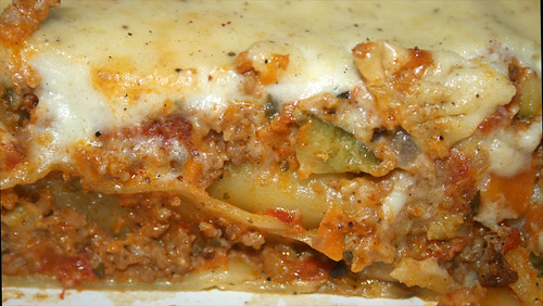 45 - Cannelloni mit Gemüse-Hack-Frischkäsefüllung - CloseUp