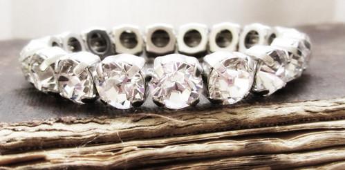 Swarovski Crystal Bracelet in Clear Crystal Stones