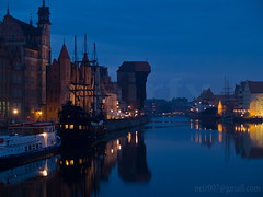 Gdansk embankment at night (neirfy) Tags: old city urban house reflection water architecture port vintage river harbor boat town wooden ancient marine europe european day sailing ship cityscape exterior place riverside crane outdoor famous poland sunny polish vessel baltic medieval historic unesco deck colored times tall eastern caravel gdansk danzig hansa hanseatic zuraw gansa hanza moltawa