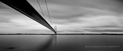 Humber (Jackson & Co Photography) Tags: longexposure blackandwhite mono movement yorkshire olympus humberbridge lightroom cokin 918mm