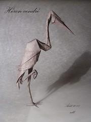 héron cendré (-sebl-) Tags: heron origami mc soie oiseaux sebl