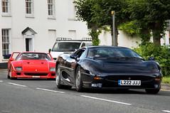 History Lesson (tWm.) Tags: blue red black car nikon thomas super ferrari mein jaguar nikkor rosso supercar f4 corsa wilton 220 f40 xj xj220 24120 d7000
