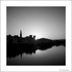 Sunrise in Florence (Ian Bramham) Tags: bw sunrise landscape dawn photo florence nikon image photograph firenze riverarno nationalcentrallibrary d700 ianbramham