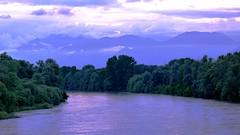 Nuvole sul Po (BORGHY52) Tags: italy nature river tramonto nuvole estate fiume piemonte giugno carignano