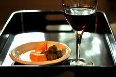 5 p.m. (Carole_R) Tags: red cheese wine potd olives tray shuttersisters365