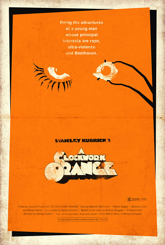 Vintage Movie Poster:  A Clockwork Orange