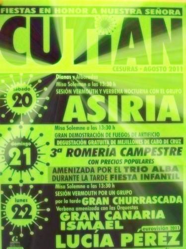 Cesuras 2011 - Festas en Cutián - cartel