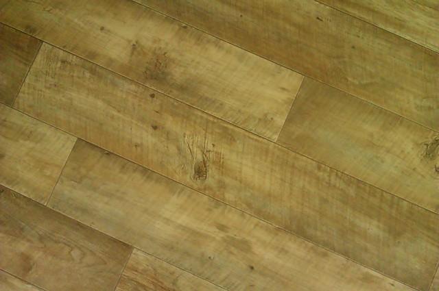 Vinyl printed to look like wooden floorboards