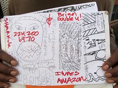 Thig flier (fotoflow / Oscar Arriola) Tags: usa chicago america graffiti design us illinois flyer midwest hand drawing brian tag united il mc american hiphop states hip hop drawn rapper sharkula thig flier