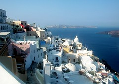 (Rinio) Tags: travel blue sea summer vacation sky holiday holidays tourist tourists santorini greece caldera greekislands cyclades rinio