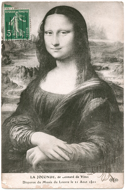 Mona Lisa_Postcard 1911_signed & dated