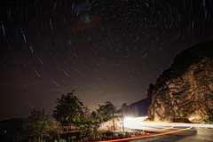 Now what? where to go? (ChrisBrn) Tags: night trails startrails cartrails
