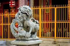 The Guardian (ClicksForKicks) Tags: temple 50mm nikon worship shrine flickr place buddhist chinese lion award places pg georgetown malaysia mystical penang f18 creatures creature pulau taoist guardian pinang afd flickraward d3100