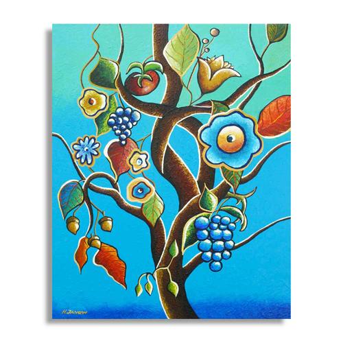 Living tree original botanical art