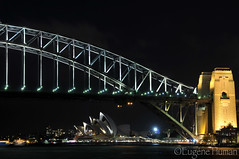 Sydney by Night 20 August 2011 (Eugene Human) Tags: camera bridge night clouds photography photo nikon sydney eugene human afterdark sydneyoperahouse sydneyharbourbridge d300s nikond300s eugenehuman