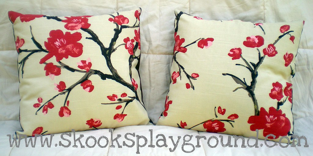Cherry Blossom Pillow Pair