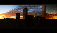Good Morning Denver (rhanelt) Tags: panorama skyline sunrise colorado denver wellsfargo