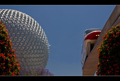 Monorail Monday V - Volume 2 (DugJax) Tags: monorail waltdisneyworld epcotcenter spaceshipearth futureworld monorailred ef24105mmf4lisusm internationalflowerandgardenfestival canonrebelt2i